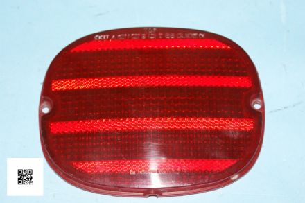1990-1996 Corvette C4 Rear Red Tail Light Lens 16509625, Used Good